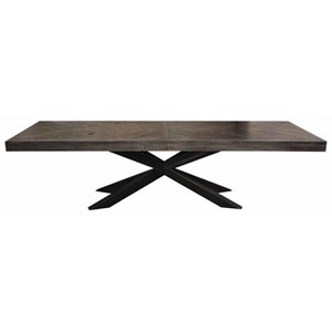 Herringbone Table with X Base
