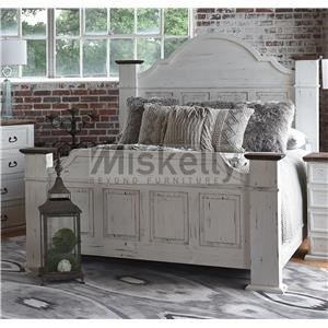 Solid Wood King Mansion Bed