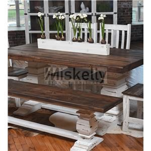 Solid Wood Trestle Table