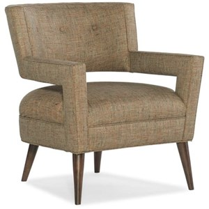 Mid-Century Modern Chair with Wraparound Back Cutout