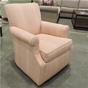 Sam Moore Azriel Casual Swivel Glider Chair With English