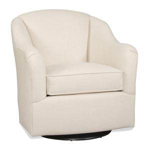Casual Swivel Chair with English Arms