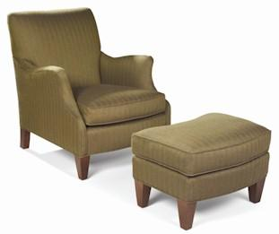 Aunt Jane  Upholstered Club Chair & Ottoman by Sam Moore at Mueller Furniture