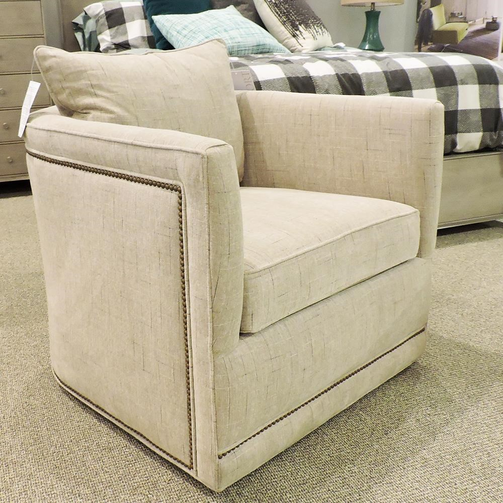 Aura Swivel Chair by Sam Moore at Belfort Furniture