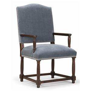 Sam Moore Continental Camel Back Arm Chair