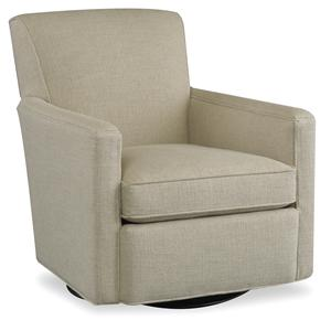 Casual Swivel Glider Chair with Track Arms