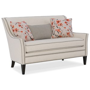 Wing Back Settee with Nailhead Border