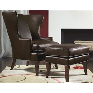 Wing Back Chair & Ottoman