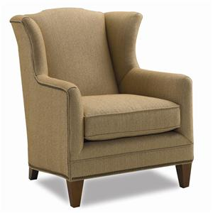 Wing Chair with Nail Head Trim