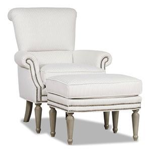 Sam Moore Irina Chair and Ottoman