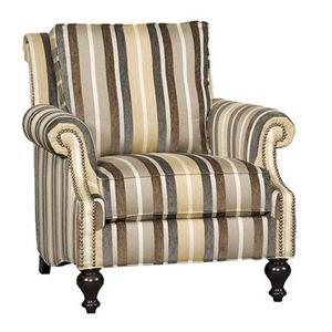 Traditional Club Chair with Plush Seat Back and Nailhead Trim