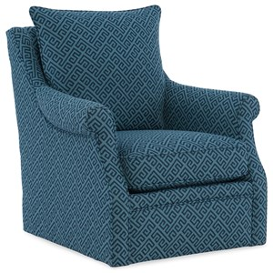 Transitional Swivel Accent Chair