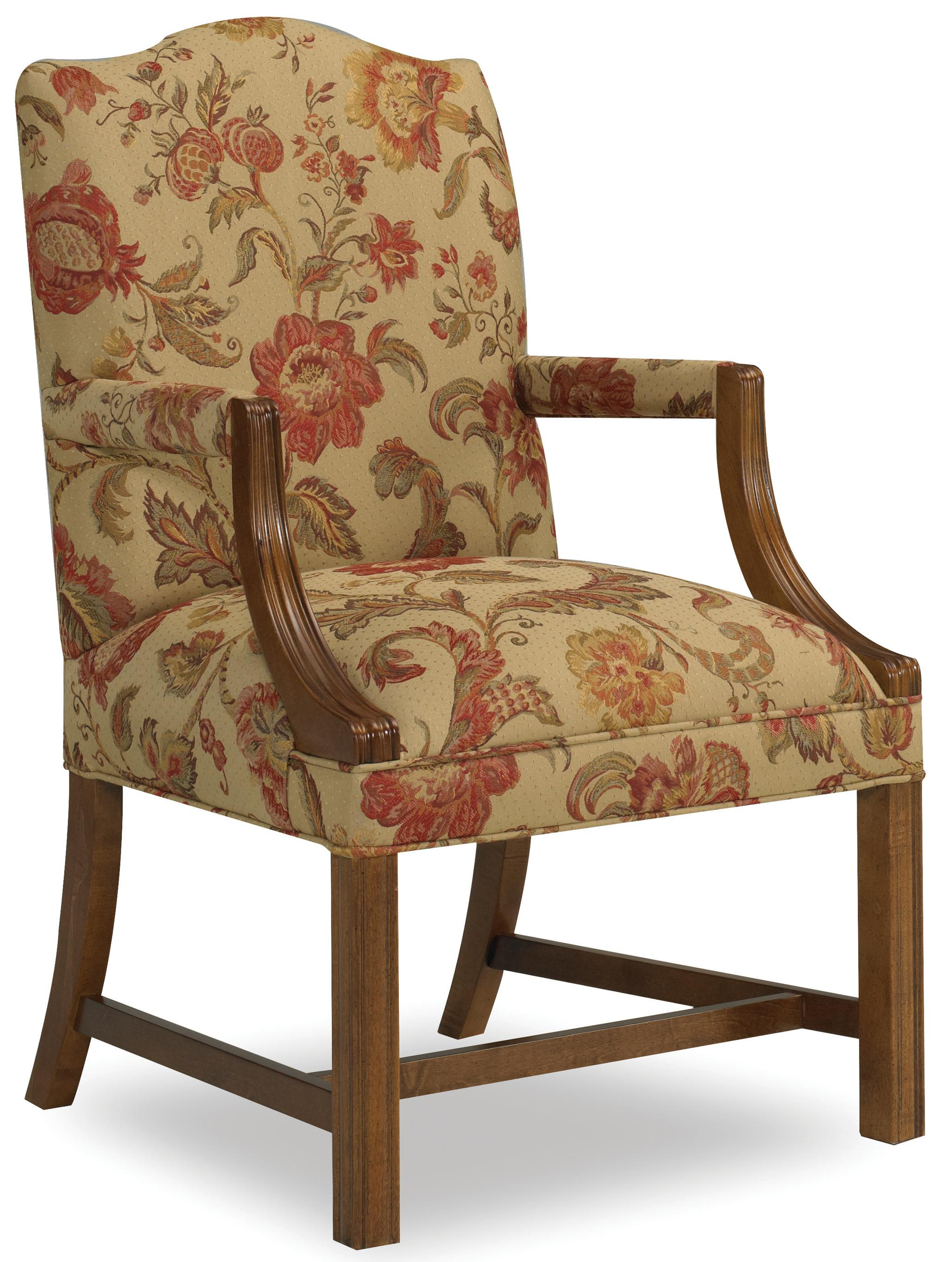 Martha Exposed Wood Arm Chair by Sam Moore at Baer's Furniture