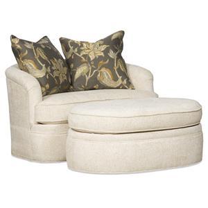 Sam Moore Palais Swivel Chair and Ottoman