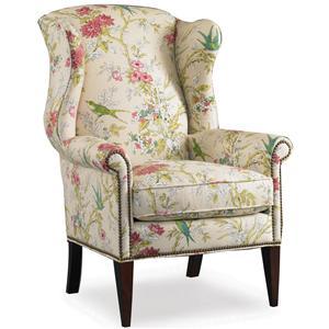 Wing Chair with Nail Head Trim Decoration