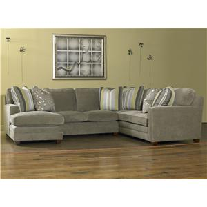 Sam Moore Ricky Three Piece Sectional Sofa w/ LAF Chaise