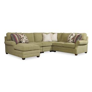 Sam Moore Riley Four Piece Sectional Sofa w/ RAF Chaise