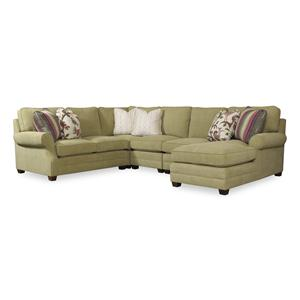 Sam Moore Riley Four Piece Sectional Sofa w/ LAF Chaise
