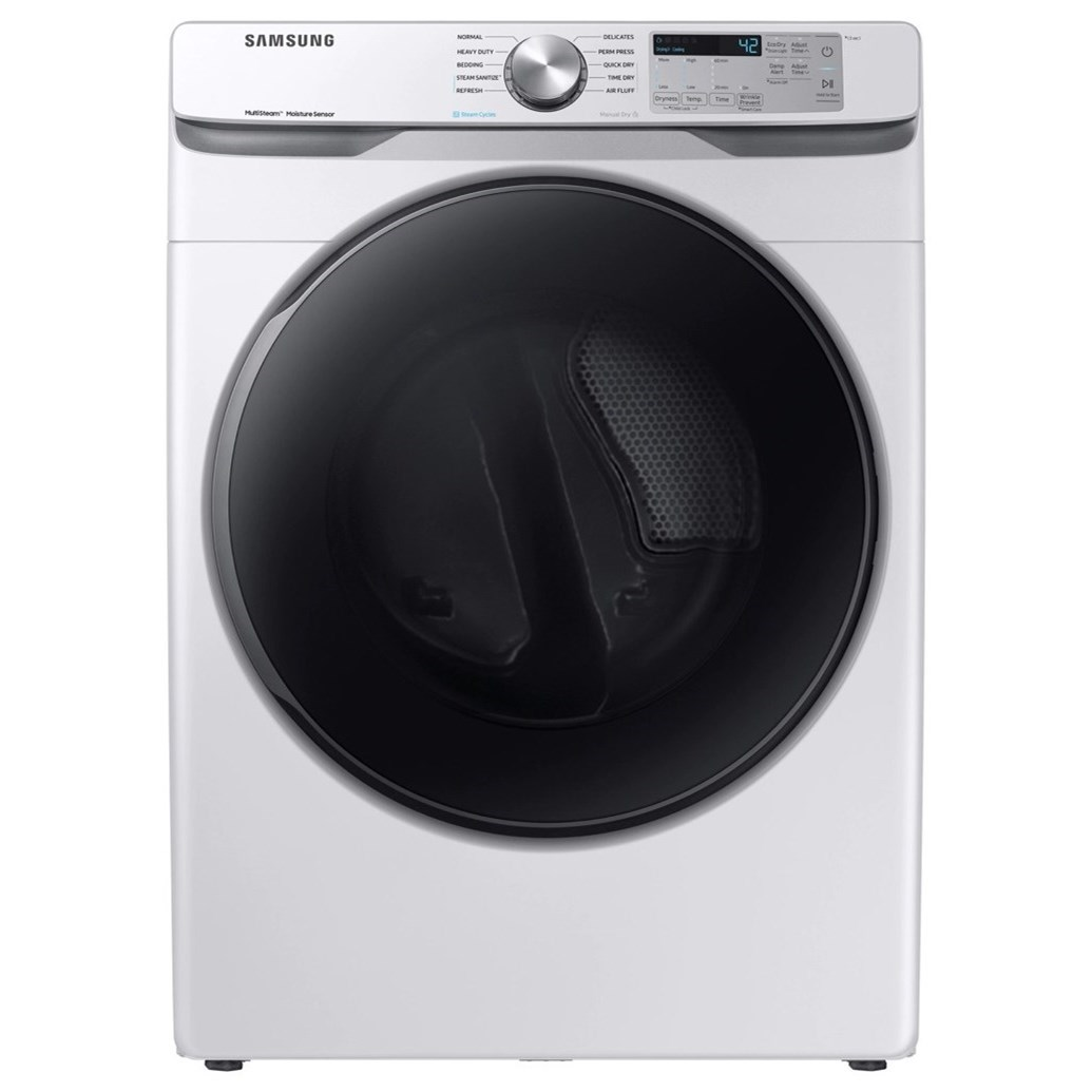 Dryers- Samsung 7.5 cu. ft. Front Load Electric Dryer by Samsung Appliances at VanDrie Home Furnishings