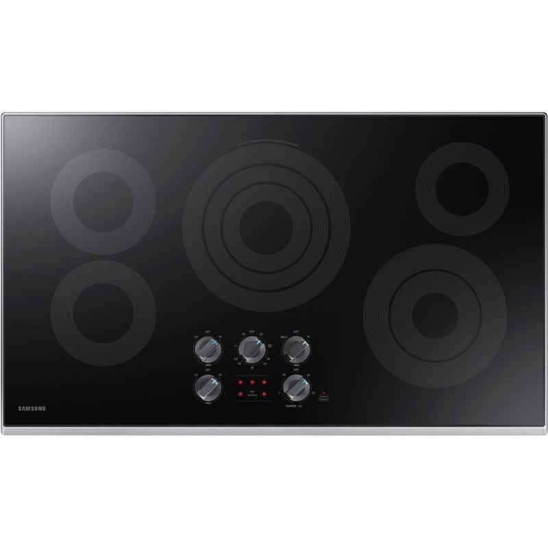 """Electric Cooktops - Samsung 36"""" Electric Cooktop by Samsung Appliances at Furniture and ApplianceMart"""