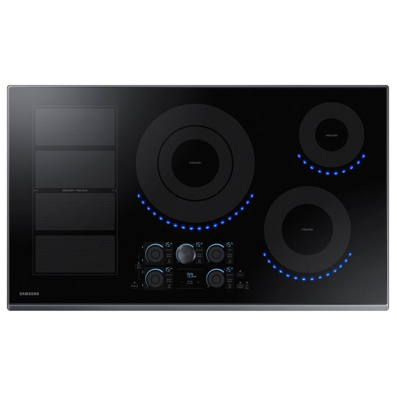"""Electric Cooktops - Samsung 36"""" Induction Cooktop by Samsung Appliances at Furniture and ApplianceMart"""