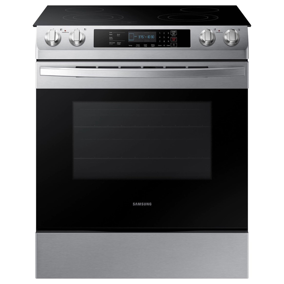 Electric Range 5.8 cu. ft. Slide-In Electric Range by Samsung Appliances at Furniture and ApplianceMart