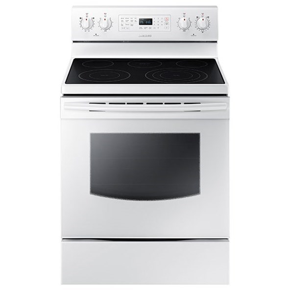 Electric Range 5.9 cu. ft. Electric Convection Range by Samsung Appliances at VanDrie Home Furnishings