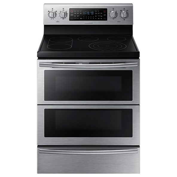 Electric Range 5.9 cu. ft. Electric Flex Duo® Range by Samsung Appliances at Furniture and ApplianceMart