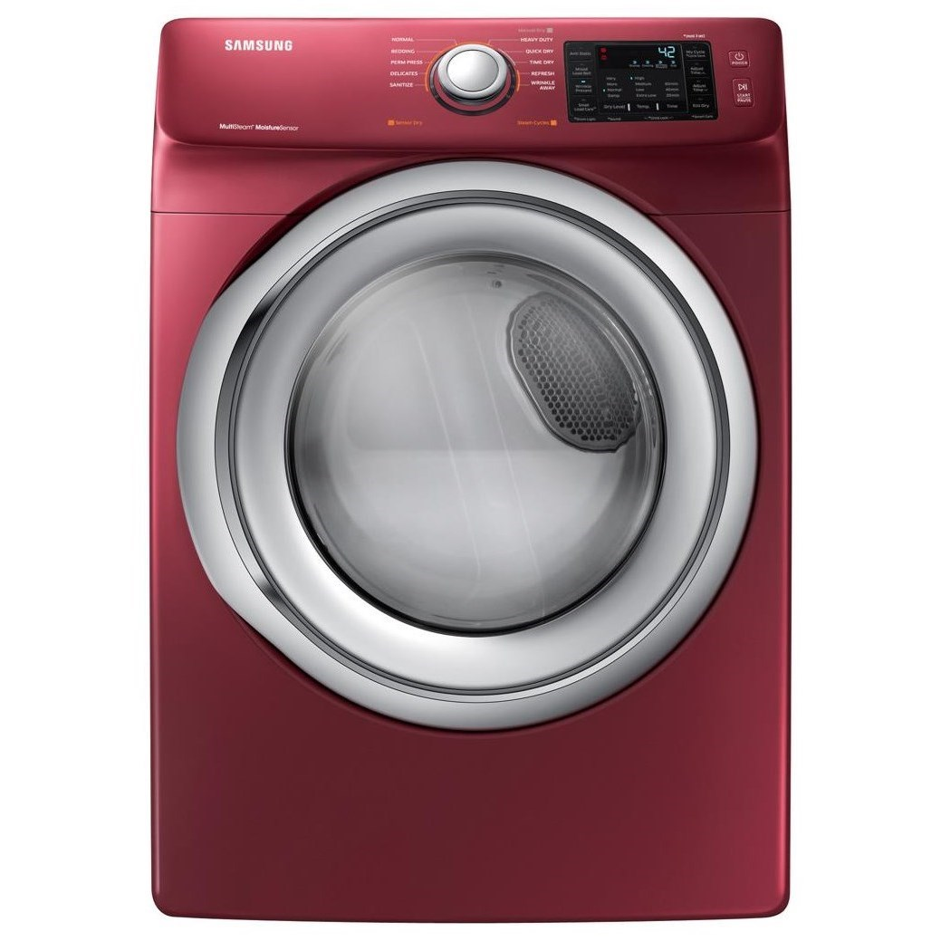 Gas Dryers DV5300 7.5 Gas Front Load Dryer by Samsung Appliances at VanDrie Home Furnishings
