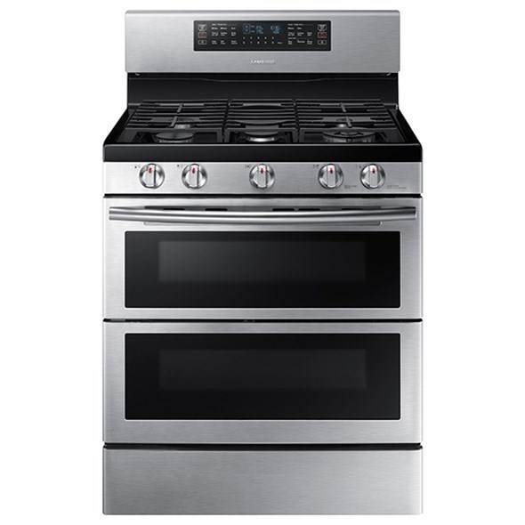 Gas Ranges 5.8 cu. ft. Flex Duo™ Dual Door Gas Range by Samsung Appliances at Furniture and ApplianceMart