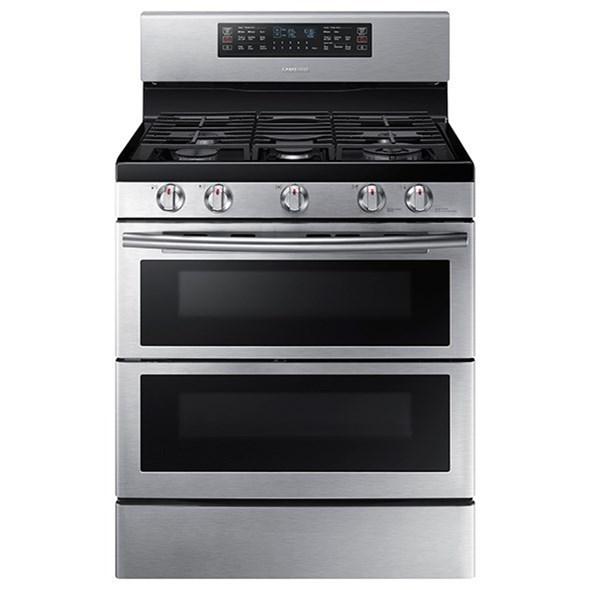 Gas Ranges 5.8 cu. ft. Flex Duo™ Dual Door Gas Range by Samsung Appliances at VanDrie Home Furnishings