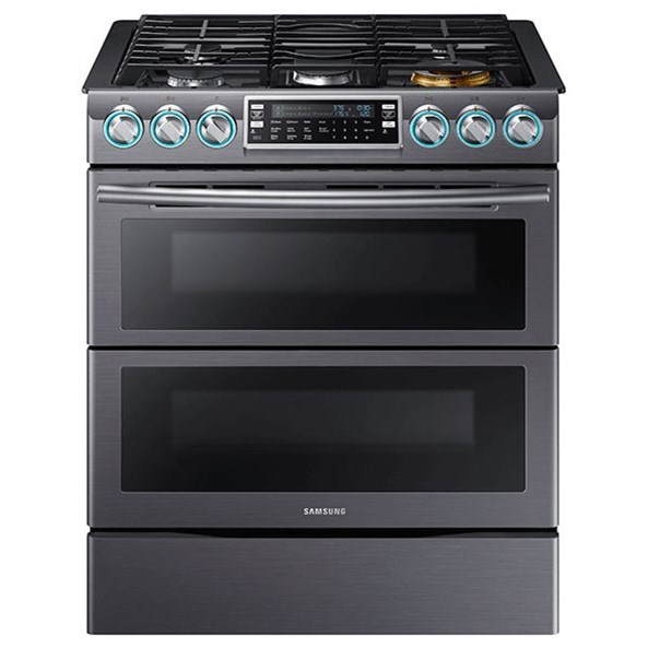 Gas Ranges - Samsung 5.8 cu. ft. Slide-In Gas Flex Duo™ Range by Samsung Appliances at VanDrie Home Furnishings