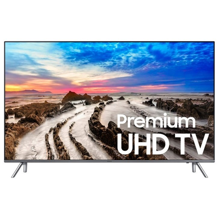 "4K UHD TVs - Samsung 2017 55"" Class MU8000 4K UHD TV by Samsung Electronics at Wilcox Furniture"