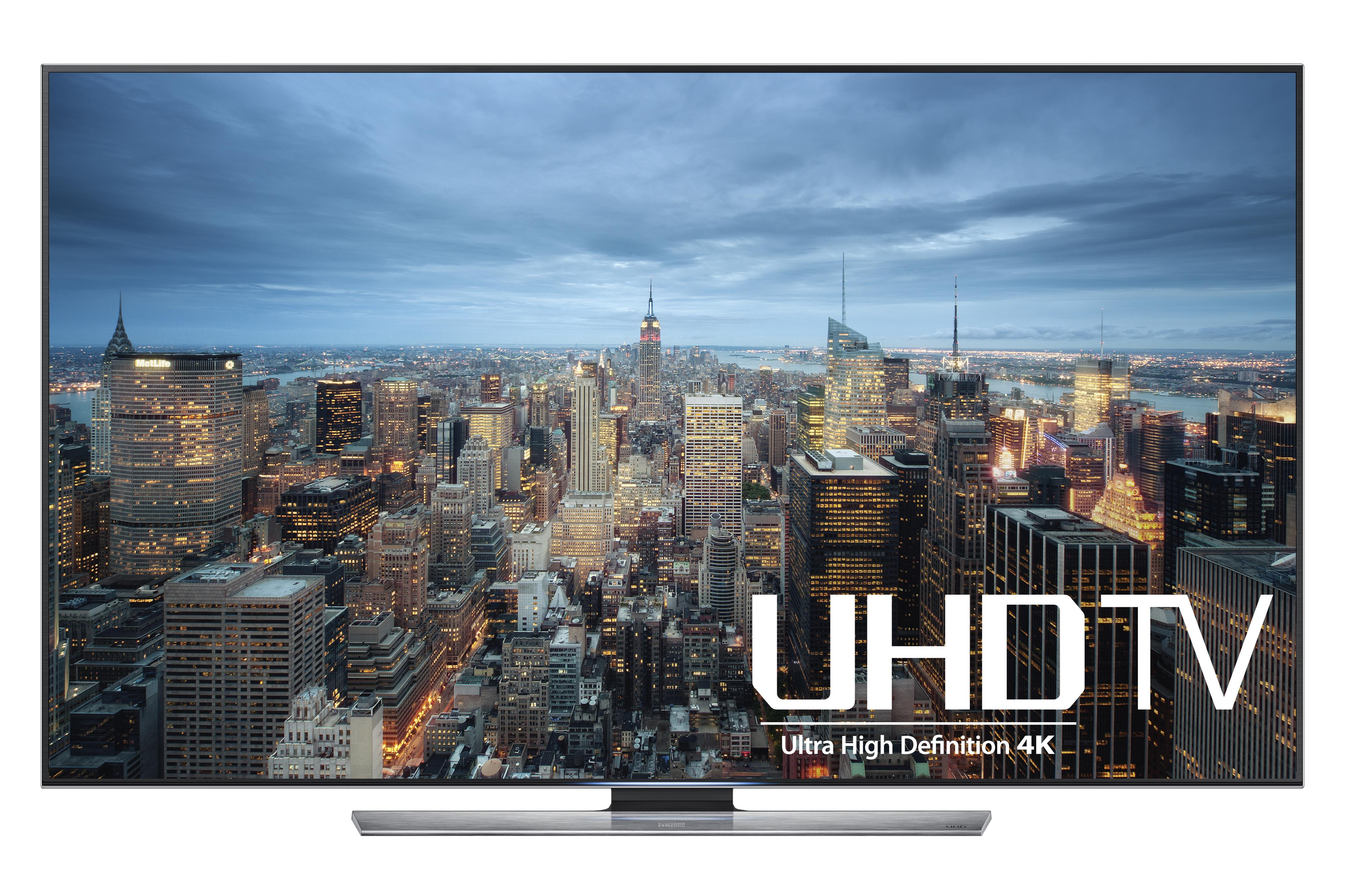 "Samsung LED TVs 2015 4K UHD JU7100 Series Smart TV - 85"" by Samsung Electronics at Wilcox Furniture"
