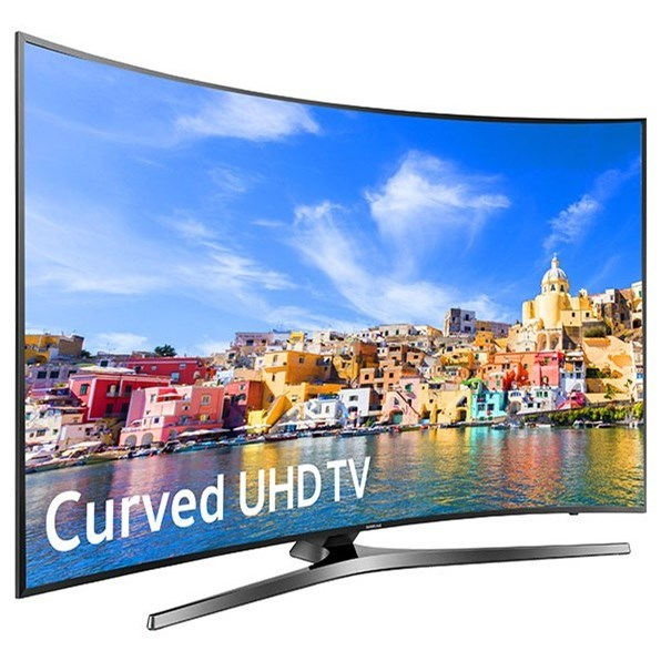 "Samsung LED TVs 2016 49"" Class KU7500 7-Series Curved 4K UHD TV by Samsung Electronics at Wilcox Furniture"