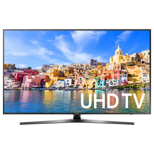 "Samsung LED TVs 2016 65"" Class KU7000 7-Series 4K UHD TV by Samsung Electronics at Wilcox Furniture"