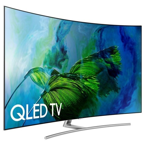 """Samsung QLED TVs 2017 75"""" Class Q8C Curved QLED 4K TV by Samsung Electronics at Wilcox Furniture"""