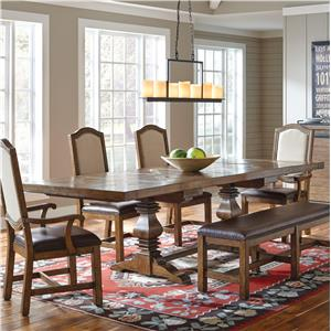 Samuel Lawrence American Attitude Saw Horse Dining Table w/ Cross Hitch Top
