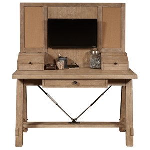 Desk and Hutch with Built In Outlets