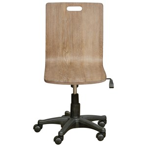 Wood Desk Chair with Adjustable Seat Height