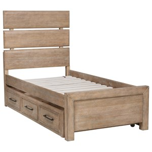 Twin Bed with Underbed Storage Unit