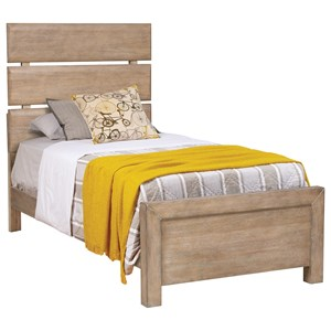 Rustic Twin Plank Bed