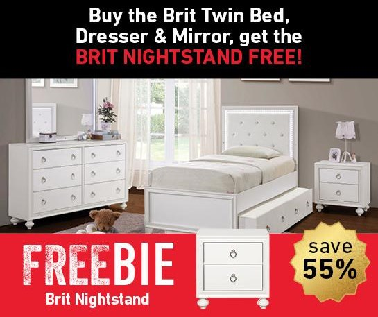 Brit Brit Twin Bed Package with Freebie! by Samuel Lawrence at Morris Home