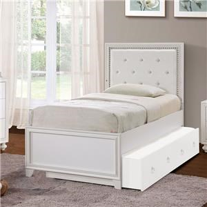 Brit TwinPanel Bed with LED Lighting