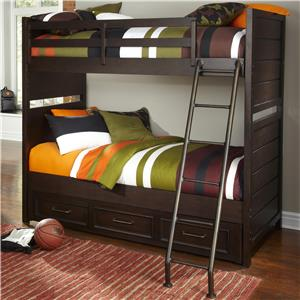 Casual Bunk Bed with Trundle Storage Unit