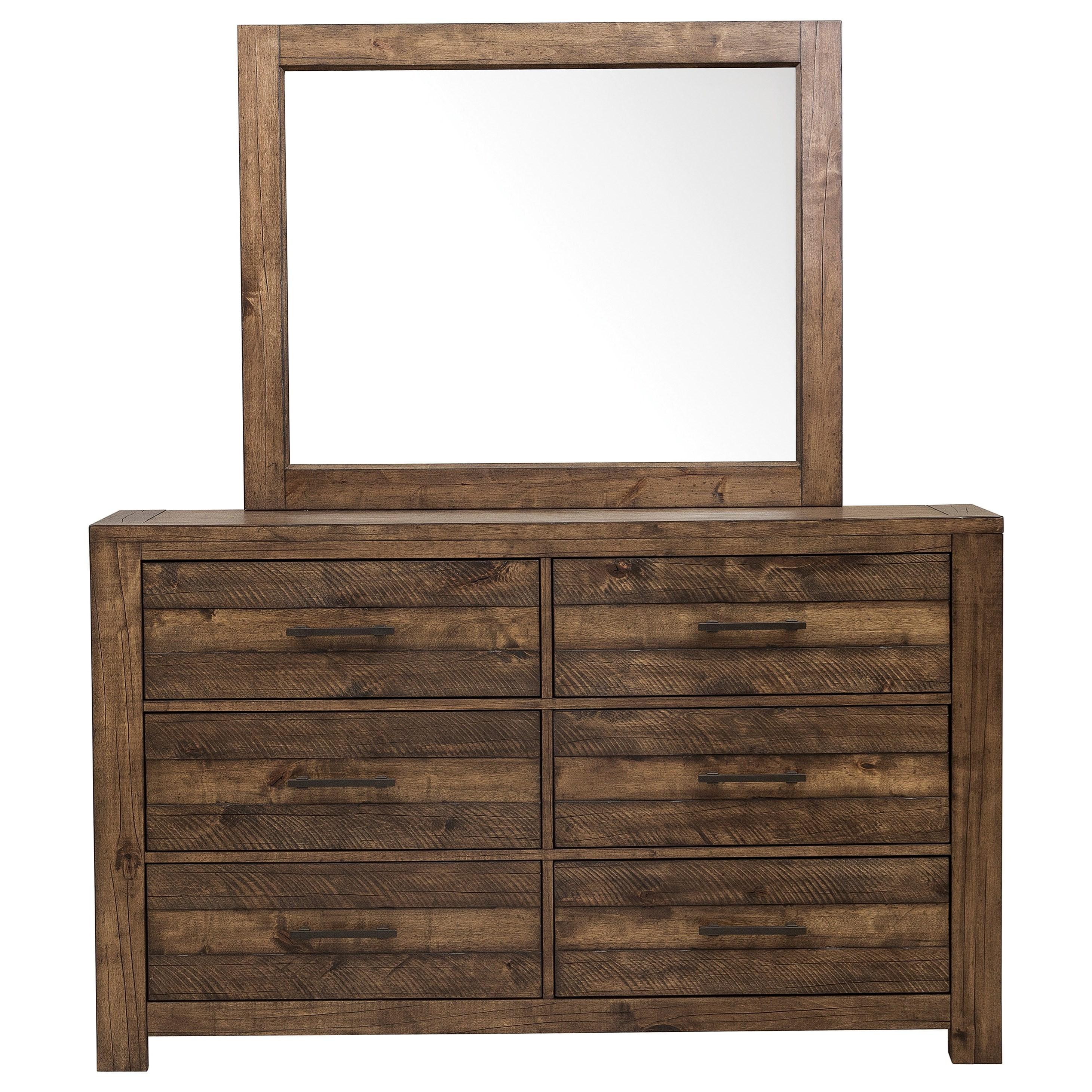 Dakota Dresser and Mirror Combo by Samuel Lawrence at Carolina Direct