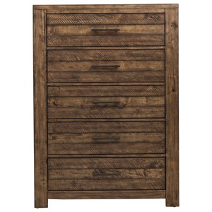 Rustic 5-Drawer Chest