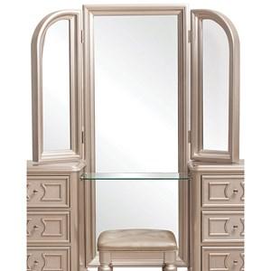 Vanity Tri View Beveled Mirror