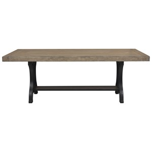 Pedestal Dining Table with Cast Metal Base