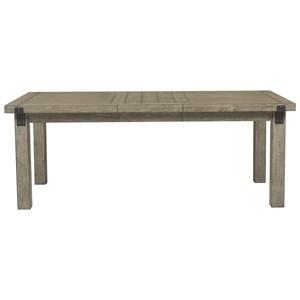 Leg Dining Table with Decorative Metal Leg Brackets